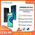 UMIDIGI Samrtphone Android 10 Quad Camera Umidigi A7 pro 6,3 дюйма FHD + полный экран 4 Гб 64 Гб ROM глобальная версия Чехол для сотовых телефонов