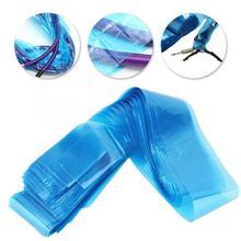 100 шт одноразовая татуировочная машина для защиты крючков, сумка с зажимом, чехол для шнура, пластиковый синий зажим, рукава для боди-арта