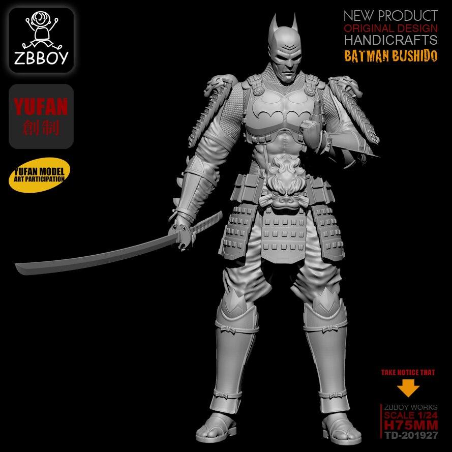 1/24  Resin Figure Kits Batman Ronin Resin Soldier Self-assembled TD-201811