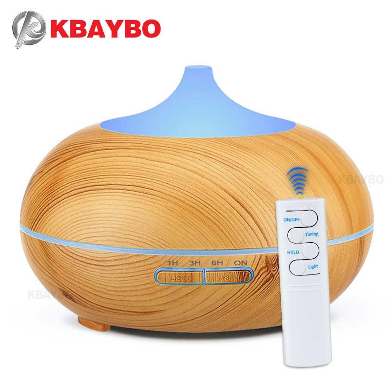 KBAYBO 550ml น้ำมันหอมระเหย Aroma Diffuser Ultrasonic Air Humidifier Cool Mist น้ำมันหอมระเหยเครื่องปรับอากาศ fogger สำหรับ Home