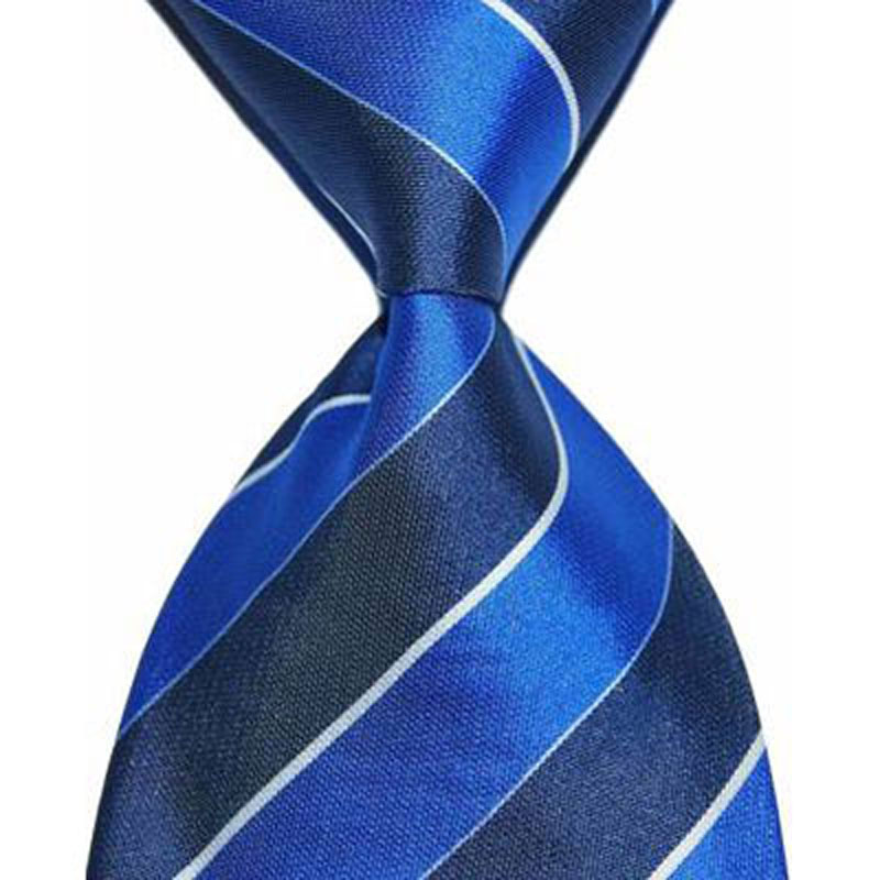 Suit Tie Silk Necktie Men Striped 10cm Wide Blue Purple Fashion Jacquard Woven Gift For Formal Wear Business Christmas Party