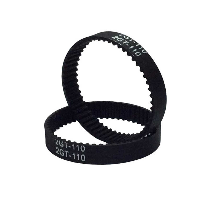 GT2 Loop Tertutup Timing Belt Rubber 2GT 6 Mm 3D Printer Bagian 110 Mm 112 Mm 1220 852 752 610 400 300 280 200 158 Mm Sabuk Sinkron