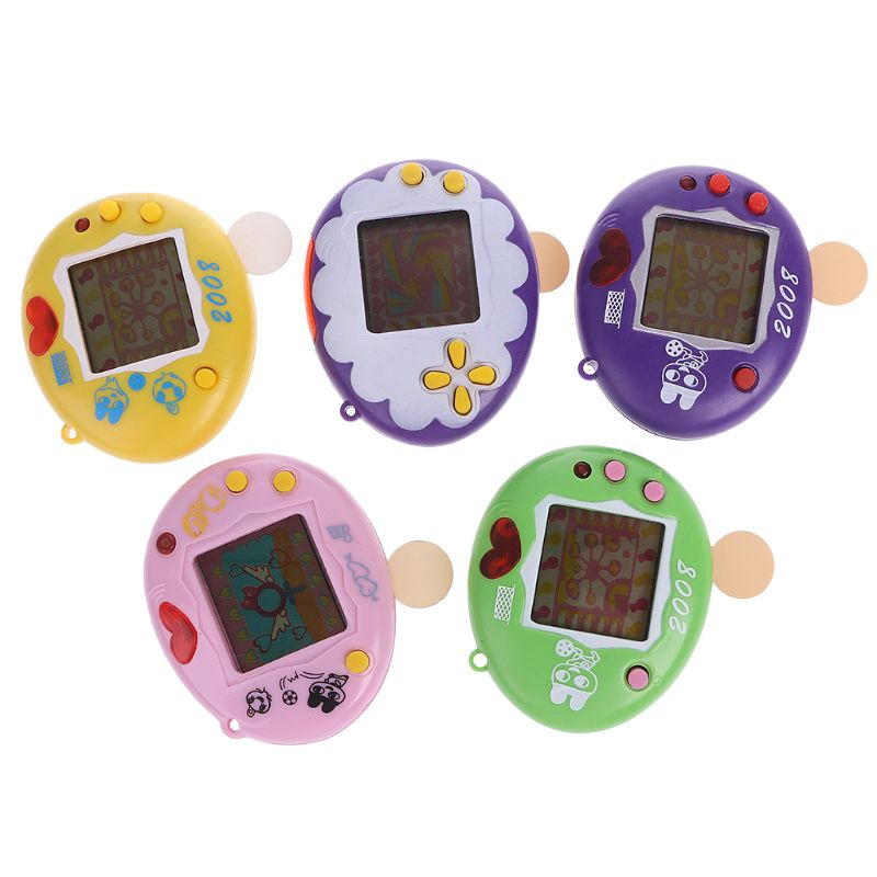 Virtual LCD Digital Pet Handheld Electronic Game Machine Lanyard For Children R7RB