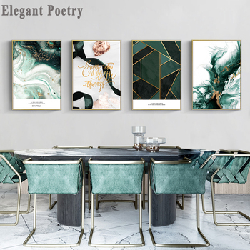 Scandinavian Geometry Canvas Wall Art Print Nordic Poster Abstract Painting Decorative Picture Modern Livinfg Room Decoration tropical plant nordic poster home decoration scandinavian green leaves decorative picture modern wall art canvas painting