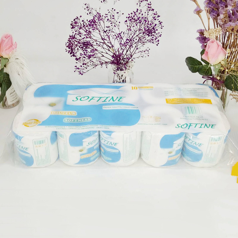 3-ply Toilet Paper Home Kitchen Bath Tissue Bathroom White Smooth Soft Toilet Tissue Paper Skin-friendly Affordable Paper
