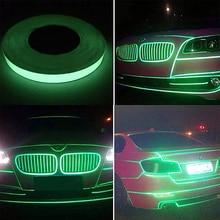 Stickers Reflective Motorcycle Tape Bike Decorative-Green Stripe 1PC 1-Meter Rim-Wheel