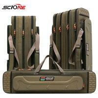 2/3/4 레이어 80/90/100/120CM 낚시 가방 다기능 낚시 막대 릴 미끼 극 저장 가방 케이스 낚시 장비 태클 XA153G|낚시 가방|스포츠 & 엔터테인먼트 -