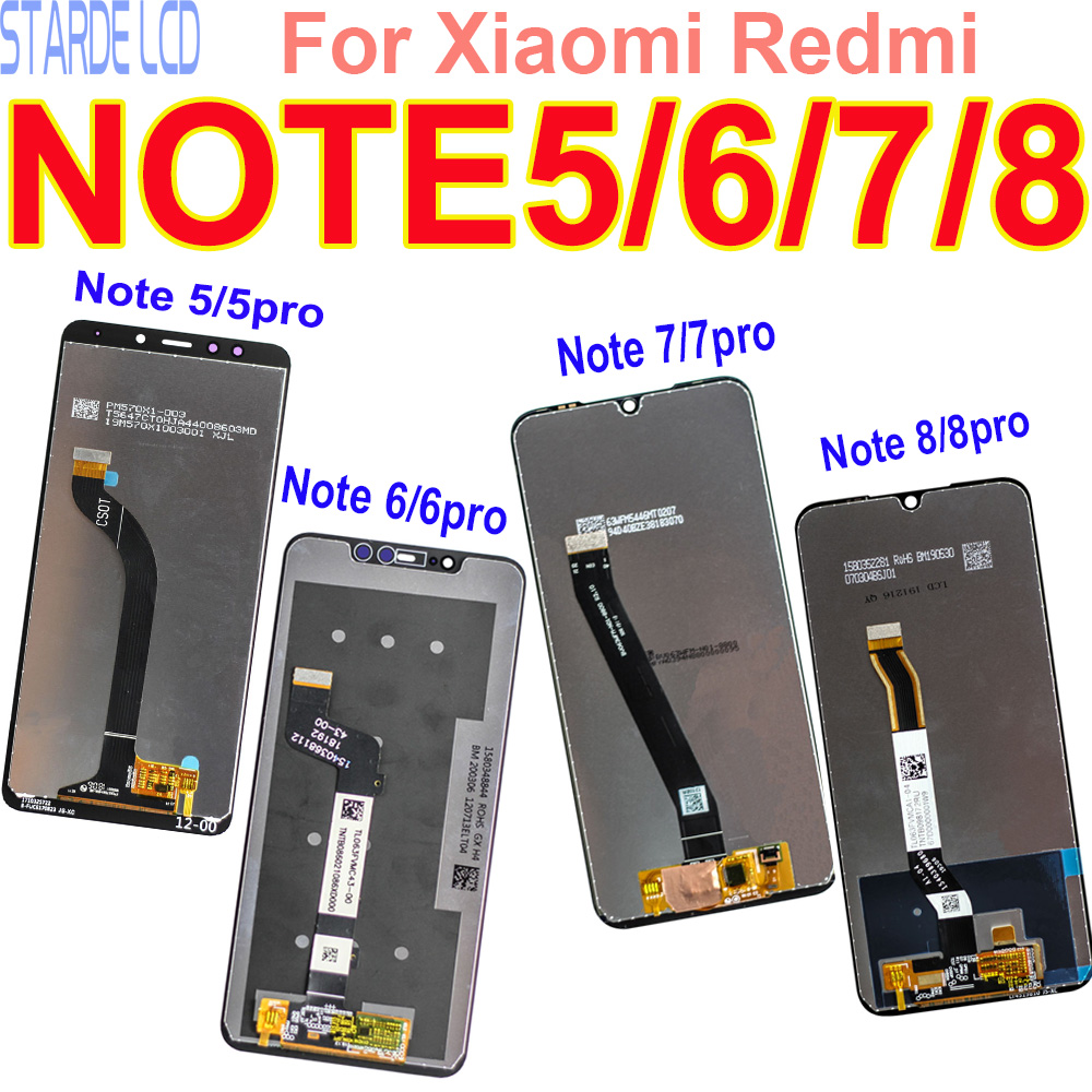 Original <font><b>LCD</b></font> Display for Xiaomi <font><b>Redmi</b></font> <font><b>Note</b></font> <font><b>5</b></font> 6 7 8 <font><b>Pro</b></font> Touch <font><b>Screen</b></font> Digitizer Assembly Replacement Repair Parts Dropshipping image