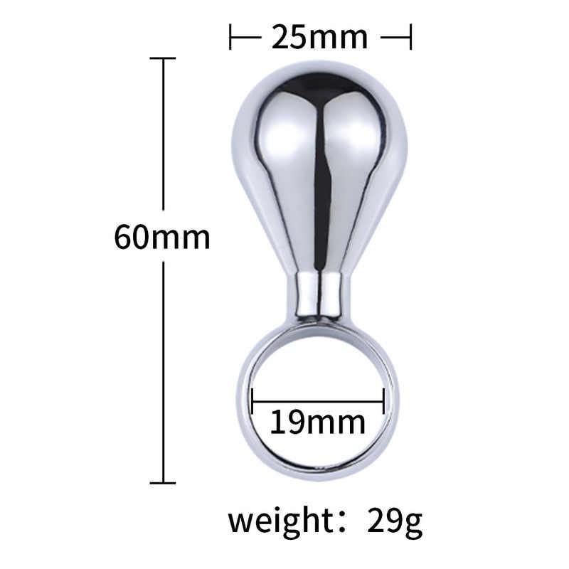 Anal Sex ของเล่นโลหะสแตนเลส Butt Plug Dildo ขนาดกลางขนาดใหญ่ Anal Plug ผลิตภัณฑ์สำหรับเกย์ทวารหนัก Dilation anal ลูกปัด