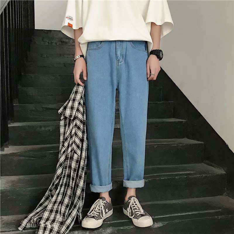 2019 Autumn New Style Loose-Fit Korean-style Casual Capri Pants Sub-Hong Kong Style Popular Brand Versatile Students Straight-Cu