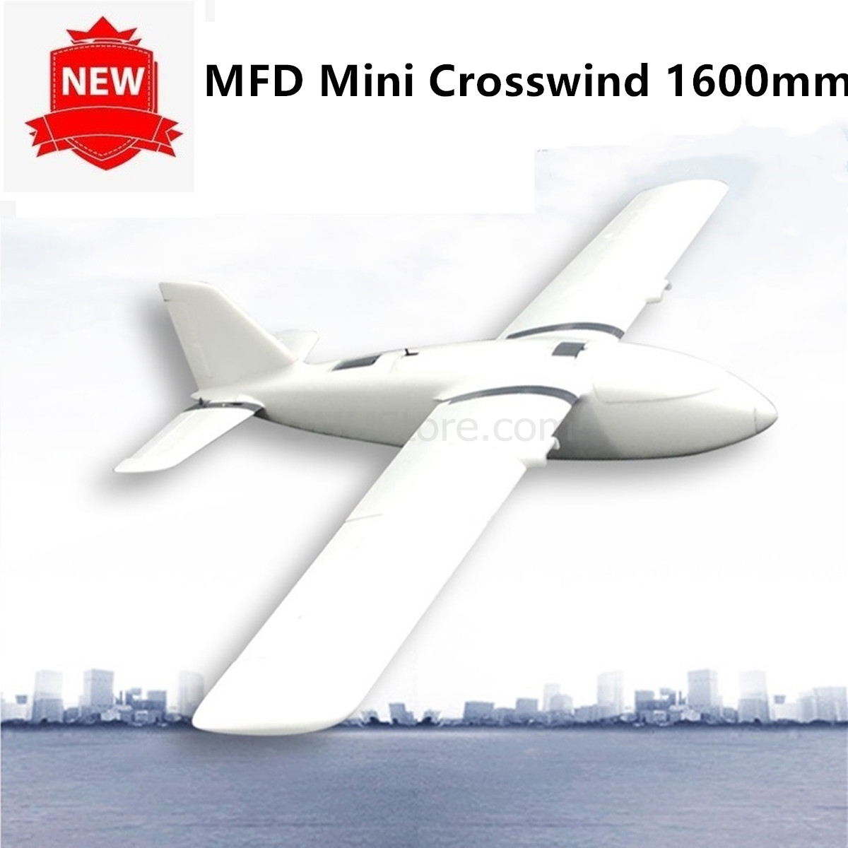 MFD Mini Crosswind 1600mm Wing FPV Plane Kit Fixed wing UAV FPV RC Airplane EPO Model Aircraft image