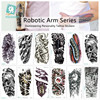 Individuality 3D Mechanical Arm Design Water Transfer Waterproof Temporary Tattoo Stickers For Men Women Body Art Fake Tattoos