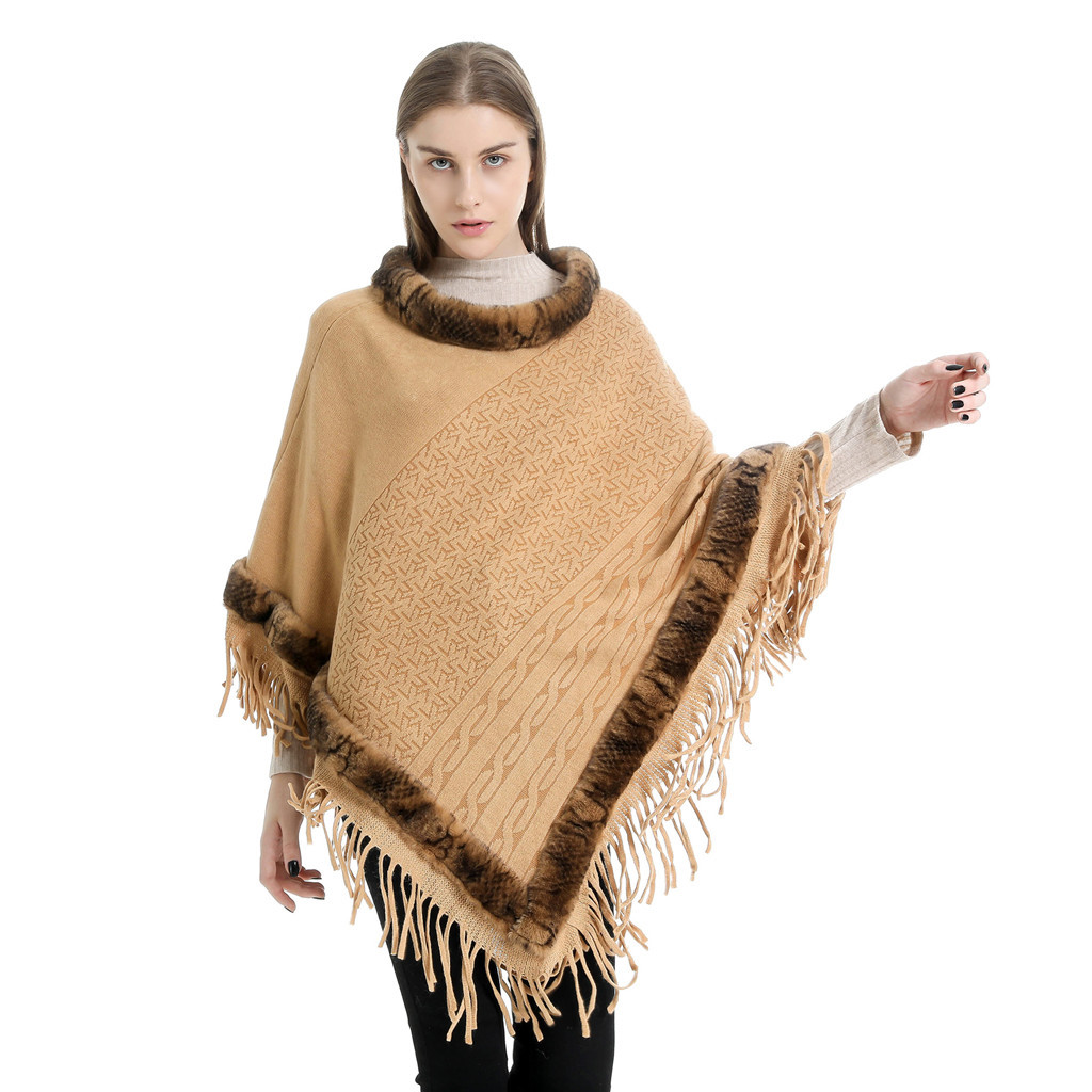 KLV Scarf Poncho Scarf Women Women's Tassel Collar Lady Imitation Sweater Cape Coat Blanket Shawls шарф женский Free Shipping D4