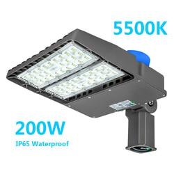 Светодиодный уличный светильник 200 Вт, 110 лм, 277 в-в, светодиодный светильник для парковки, открытый светильник с сумерками до рассвета, свети...
