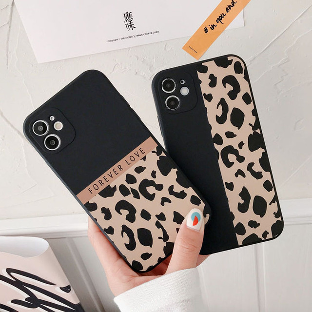 Ranipobo Leopard Print Phone Case For iPhone 12 11 X XR XS Max Soft Back Cover Shockproof Fashion Cover For iPhone 12 7 8 7Plus 1