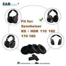 استبدال بطانة للأذن ل Sennheiser RS110 RS160 RS170 RS180 HDR160 HDR170 HDR180 سماعة أجزاء غطاء للأذن أكواب وسادة