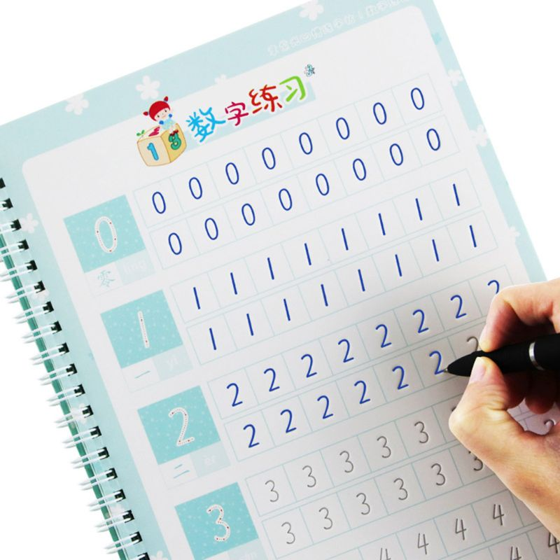 Kindergarten Preschool Digital Number Calligraphy Copybook For Kids Children