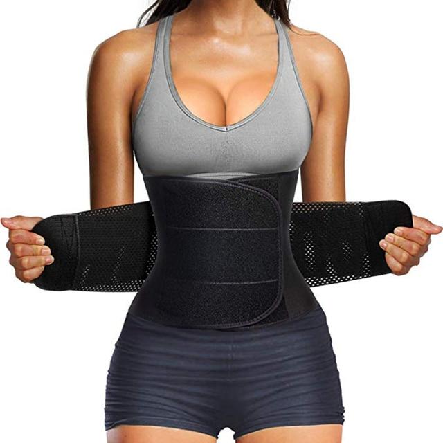 Women Waist Trainer Belt Tummy Control Waist Cincher Trimmer Sauna Sweat Workout Girdle Slim Belly Band Sport Girdle 4