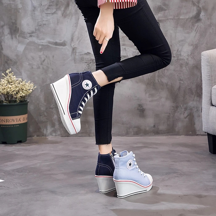 Mujer Lona Estudantes Do Sexo Feminino Sapatos
