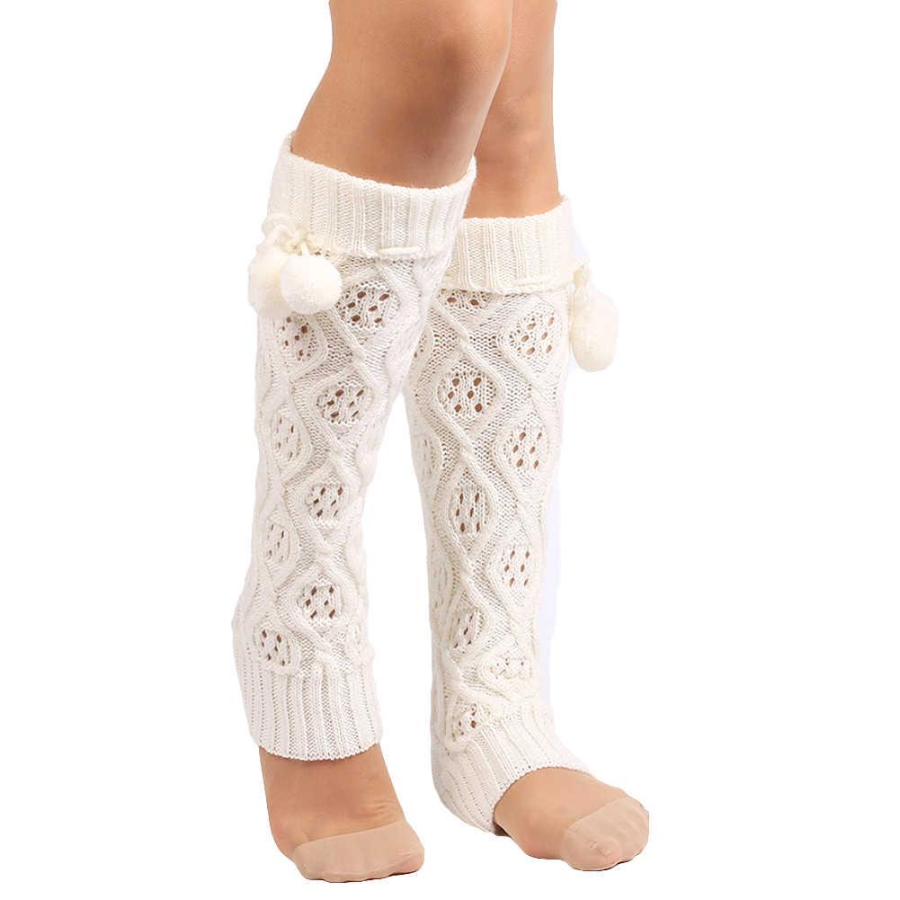 Erstaunlich Mode Frauen Winter Warme Beinlinge Gestrickte Scoks Häkeln Lange Stiefel Socken 2019 Neue Herbst Modis * 20