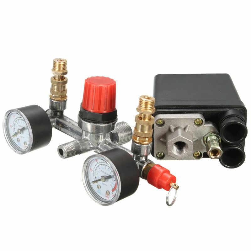 Berat Air Compressor Pressure Valve Control Switch 125 Psi 12Bar Pengukur Tidak Bisa Regular