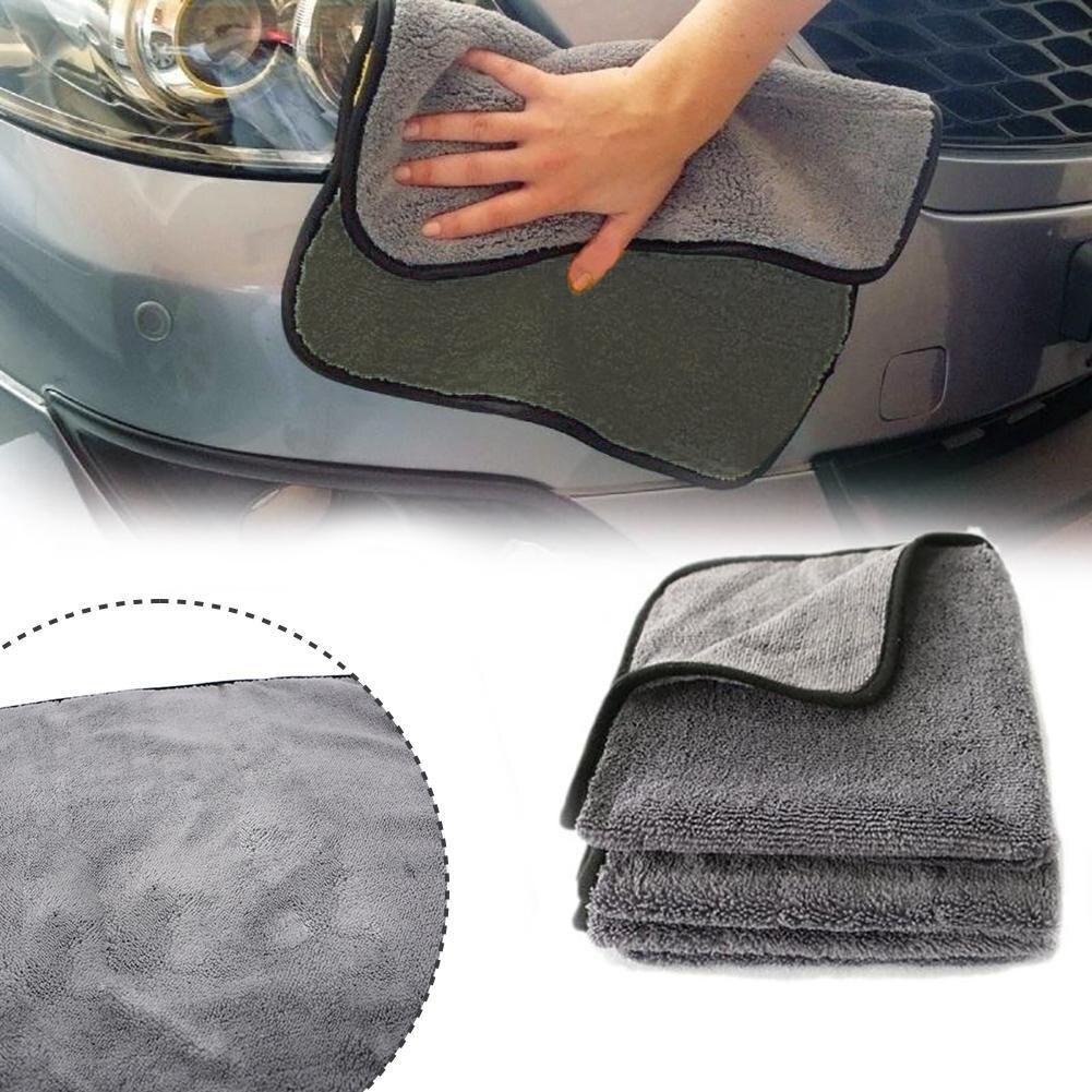 Полотенце из микрофибры для мытья автомобиля, салфетка для чистки автомобиля, салфетка для ухода, полотенце для мытья автомобиля с окантовкой 40 см, автомобильный детейлинг N4Y9 Губки, тряпки и щетки    АлиЭкспресс