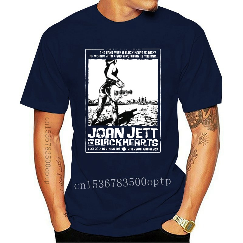 Joan jett os blackhearts runaways t camisa casais engraçado marca roupas ajuste fino blacking Camisetas    -