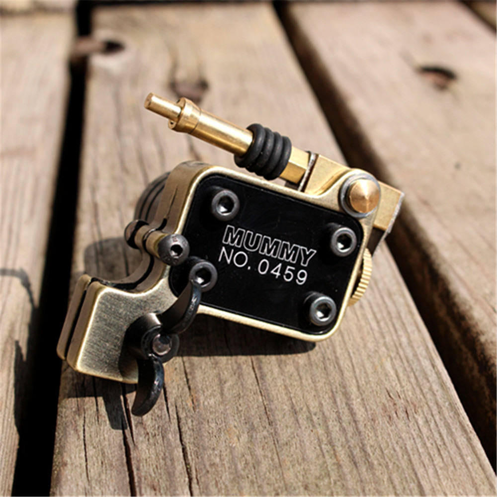 Rotary Tattoo Machine Gun Japan Motor Brass Frame(cinnamon)
