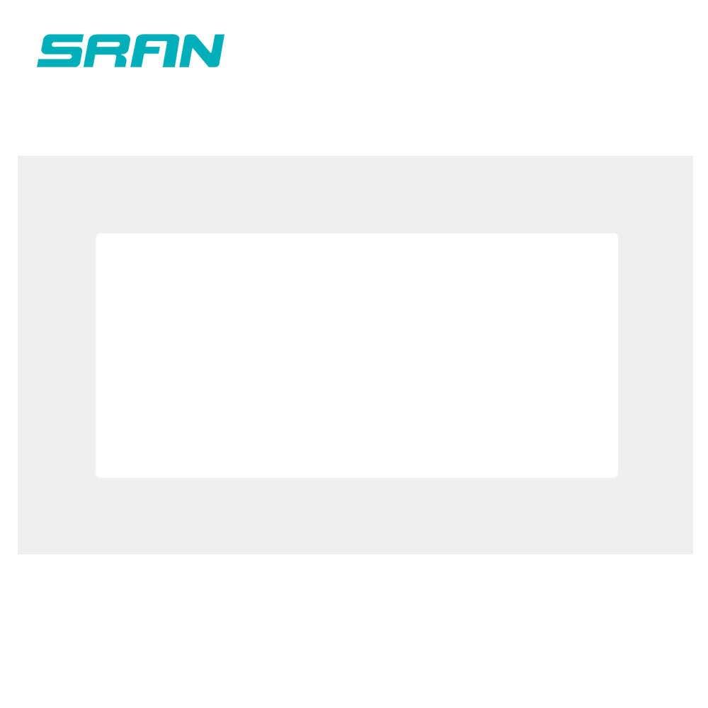 SRAN pusty panel z instalacją płyta żeliwna 146mm * 86mm biały panel PC gniazdo przełącznika