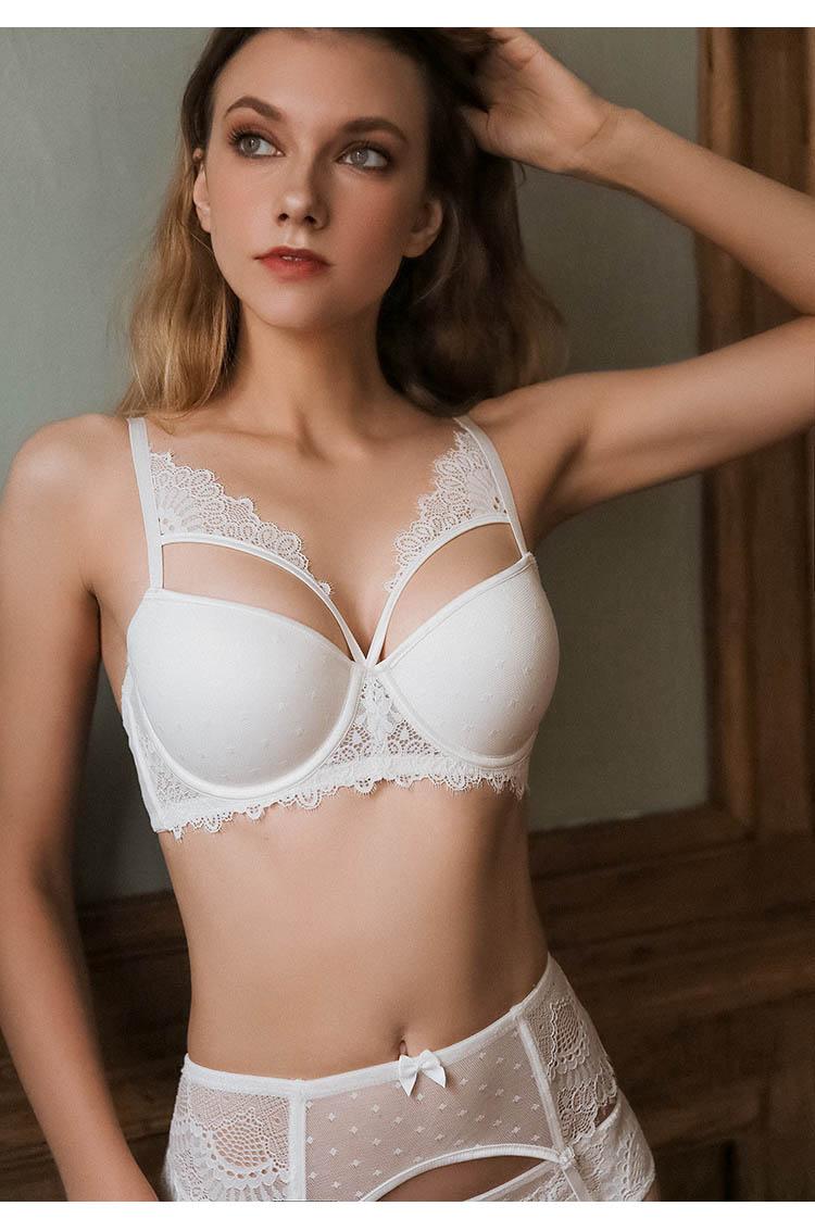 CINOON New Plus Size Underwear Sexy Lingerie Set Push up Bra Set Intimates Temptation Lace bra+panties+garter 3 PcsLots (4)