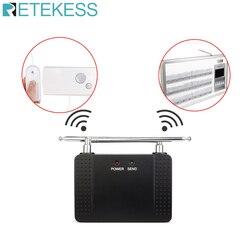 Retekess td021 500 mw 1000m rf repetidor sem fio amplificador de sinal extensor com antena para o sistema de chamada enfermeira