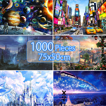Jigsaw Puzzles 1000 Pieces Adults Educational Toys Scenery Space Stars Educational Puzzle Toy for Kids Puzzle  birthday Gift 1000 pieces jigsaw puzzles educational toys scenery space stars educational puzzle toy for kids birthday gift stickers