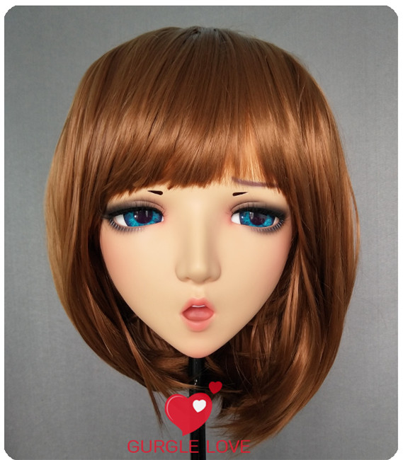 (<font><b>DM120</b></font>) Resin Girl Japan Anime Kigurumi Cosplay Masks Comic and Animation Mask Cosplay Women Cartoon BJD Crossdressing image