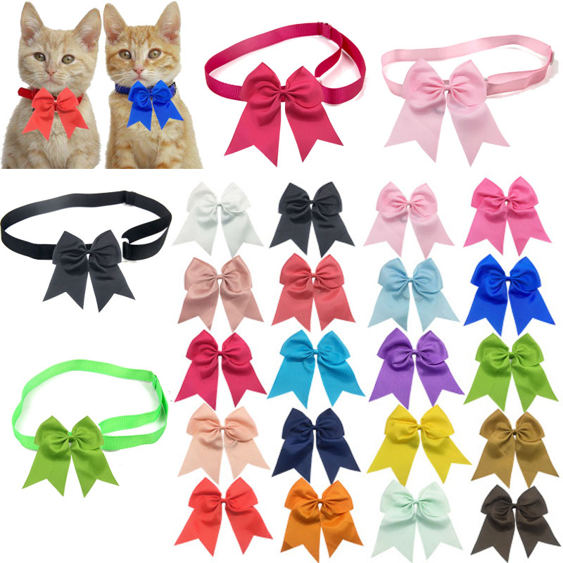 Christmas Large dog Bowties Shining Pet Dog Neckties Bow Tie Middle Dog Pet Big Bows Accessories Dog Accessories