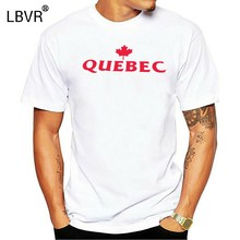 t-shirt Quebec Canada Eh maple leaf Canuck hockey custom made colors(China)