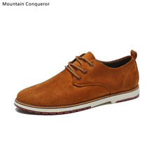 Mountain Conqueror Men shoes classic color Casual Autumn Winter New Ankle Boots Brand Male Suede Leather boots men Size 39-44