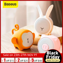 Baseus Bluetooth hoparlör taşınabilir su geçirmez Mini hoparlör ev araba için daha iyi 3W bas renkli hayvan modeli Stereo ses