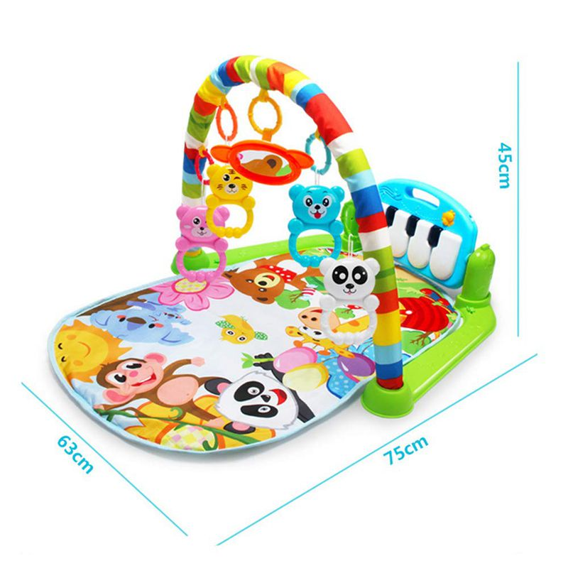 H51514244f509447ca14c0faab4c82492r Play Mat Baby Carpet Music Puzzle Mat With Piano Keyboard Educational Rack Toys Infant Fitness Crawling Mat Gift For Kids Gym