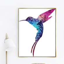 Nordic Art Canvas Painting Colorful Hummingbird Animal Pictures For Living Room Prints INS Style Decoration