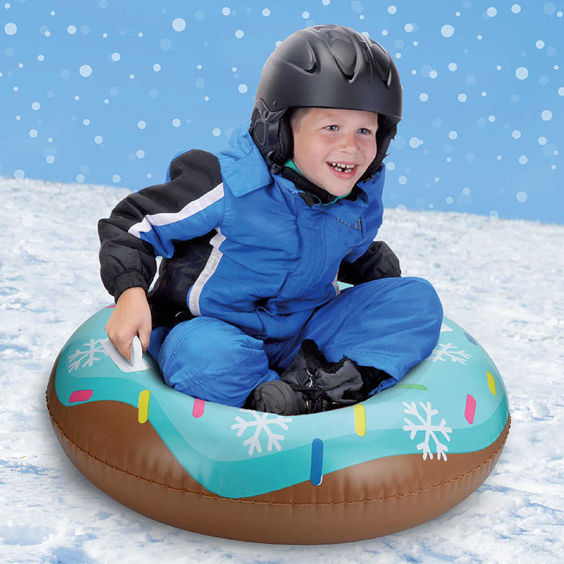Outdoor Children Floated Skiing Board PVC Winter Inflatable Ski Circle With Handle Thick Durable Adult Snow Tube Skiing Accessor