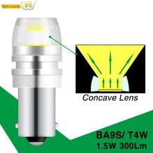 Xukey 2x BA9S T4W LED Car light bulb T2W T3W H5W interior Car LED License Plate light COB LED DC12V 12913 12910 12929