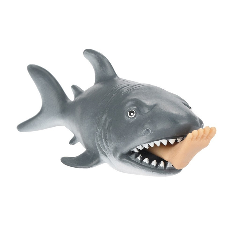 Gray Cannibal Shark Squeeze Toy High Quality Durable Soft Comfortable Shark Squeeze Toy Baby Gifts Decompression Toys New