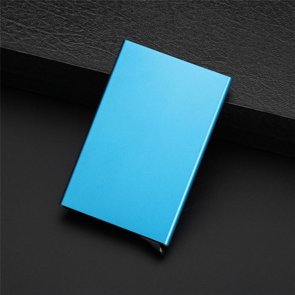 New Porte Carte PU Thin Top Brand Business ID Credit Card Holder Wallets Pocket Case Bank Credit Card Package Case Card Box #C