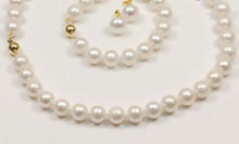 charm Jew.657 sets AA 10-11mm white black pink akoya pearl necklace bracelets (A0423)(China)