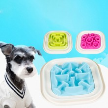 Slow Eating Bloat Stop Food Dish Anti Choking Puppy Cat Eating Dish Bowl Pet Tool Colorful Pet Dog Feeder Slow Feeding Bowl