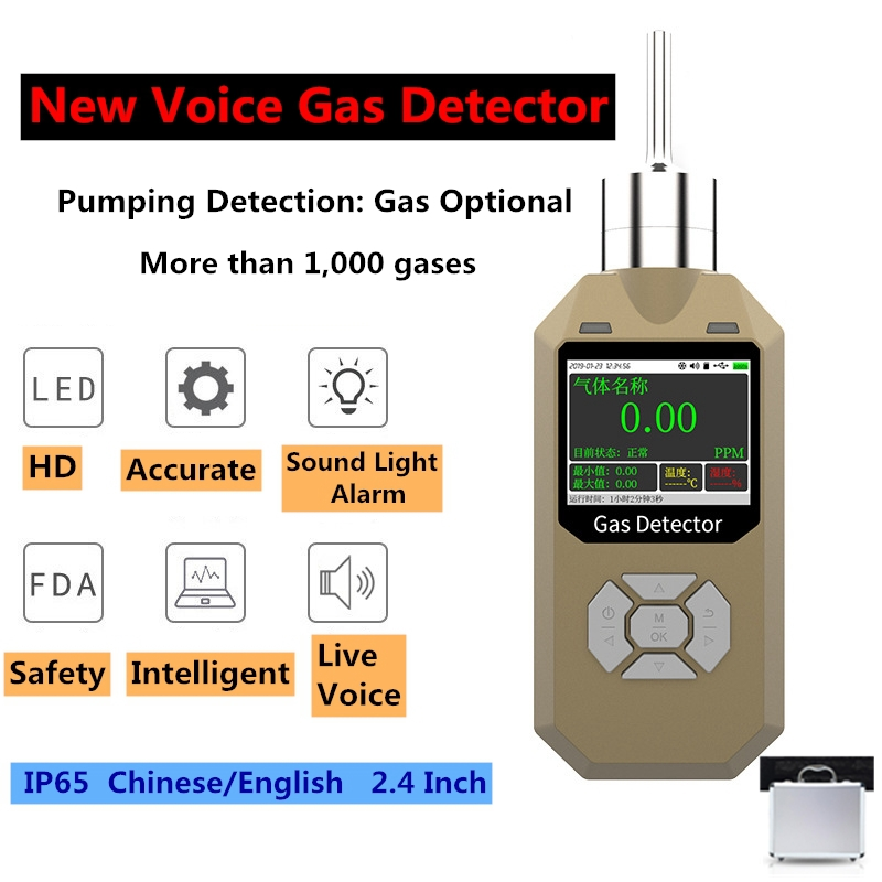 Ozone Gas Detector Live Voice EU Digital O3 Leak Detector Monitor Alarm HD USB IP65 Gas Analyzer Air Quality Professional Sensor