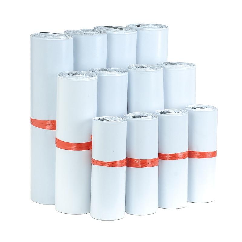 10 шт. белые самоклеящиеся курьерские пакеты, пакеты для хранения, пластиковые поли-конверты, почтовые отправки, почтовые пакеты