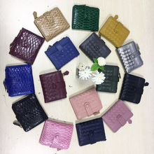 Fashion New Arrival Leather Short Wallet Snake Pattern Wallet Ladies Coin Purse Bag Snake Card Wallet for Women