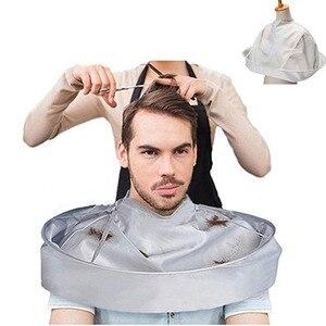 DIY накидка для стрижки волос накидка-зонтик резки плащ Обёрточная бумага волос передник для бритья волос парикмахерское платье Крышка быто...