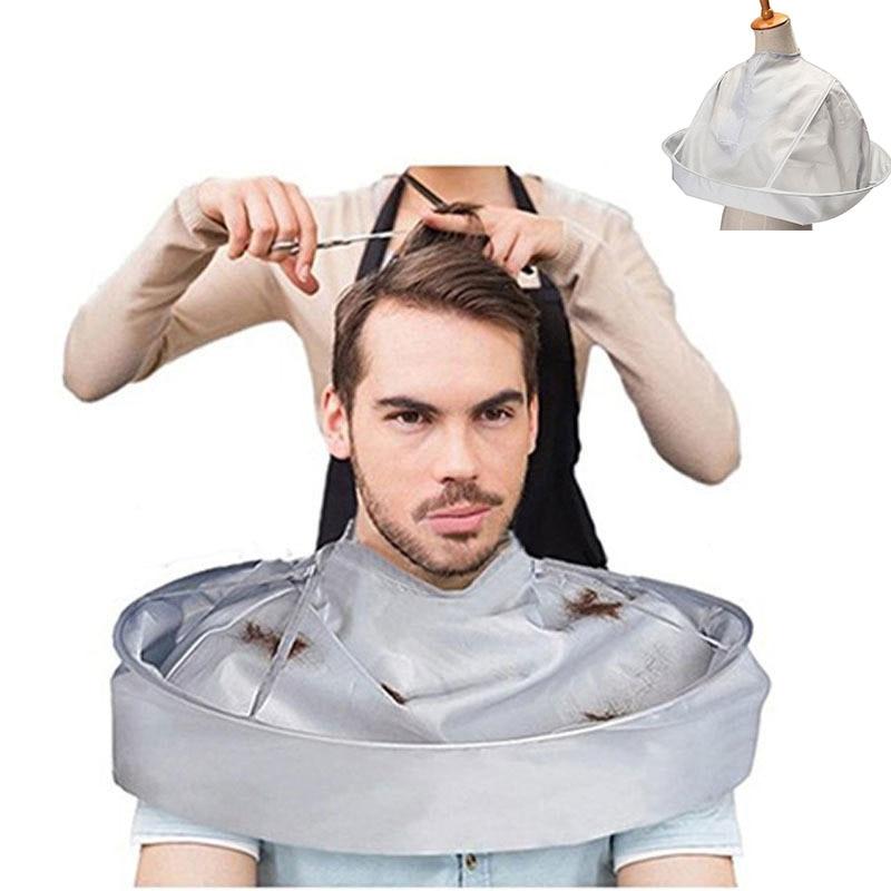 DIY накидка для стрижки волос накидка зонтик режущий плащ обертывание волос передник для бритья волос Парикмахерская накидка домашняя очистка защита|Фартуки|   | АлиЭкспресс